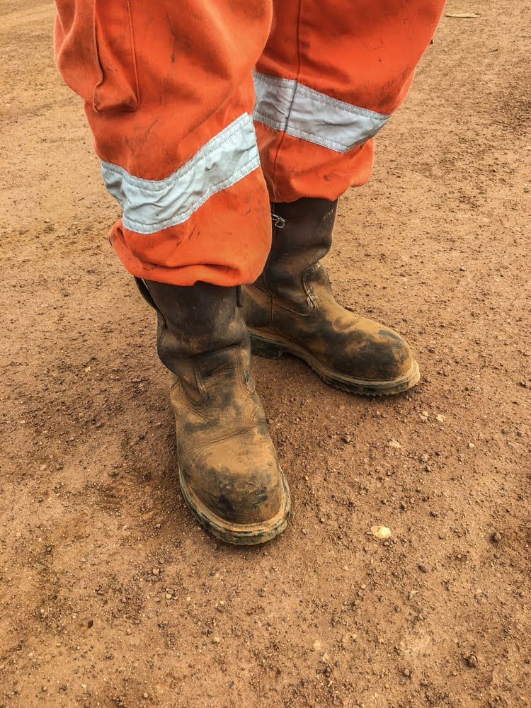 Safety boots and high vis trousers, Kay Blowes Podiatry, Podiatry clinic, podiatrist, foot specialist, foot clinic, Westbury, Warminster, Trowbridge